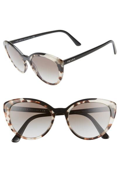 c3b6af7343e Prada 54Mm Cat Eye Sunglasses - Opal Brown Gradient