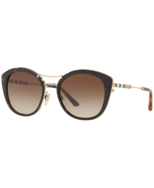 Burberry 53Mm Gradient Sunglasses - Black/ Gold/ Black Gradient In Brown/Brown Gradient
