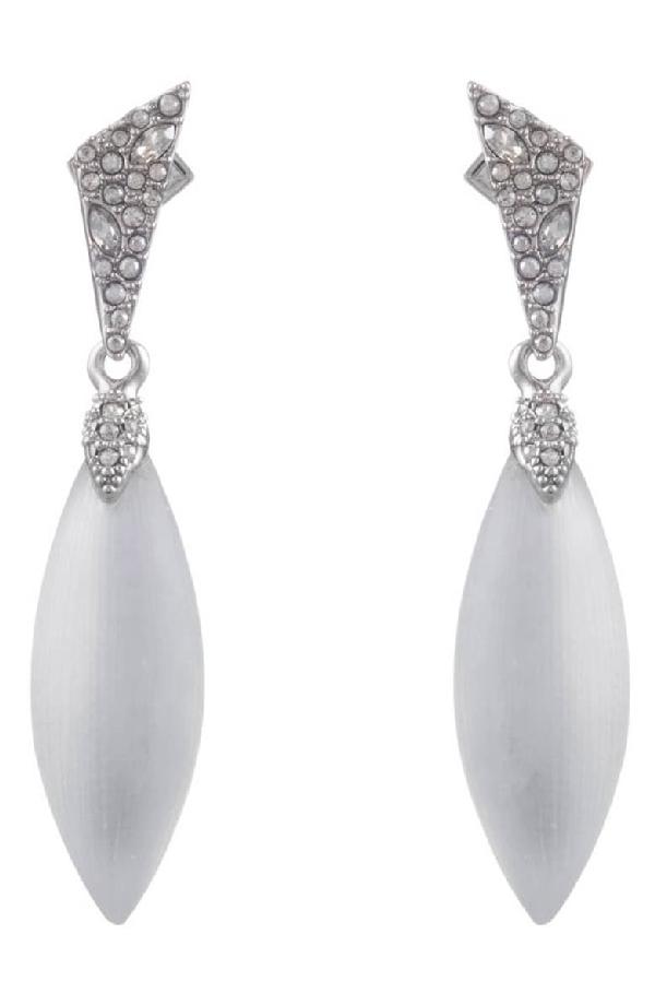 Alexis Bittar Crystal Encrusted Dangle Earrings, Silver