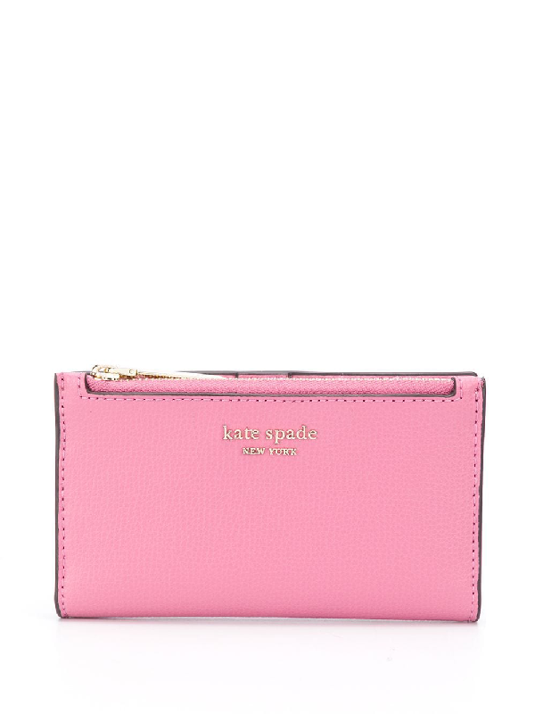 Kate Spade Sylvia Small Slim Bifold Wallet In Pink