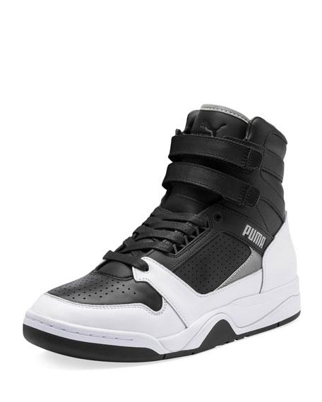Top In X Moto Palace Black Guard High Sneakers Men's 54jALq3R