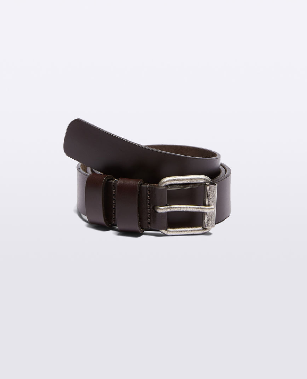 Aspesi Leather Belt In Brown