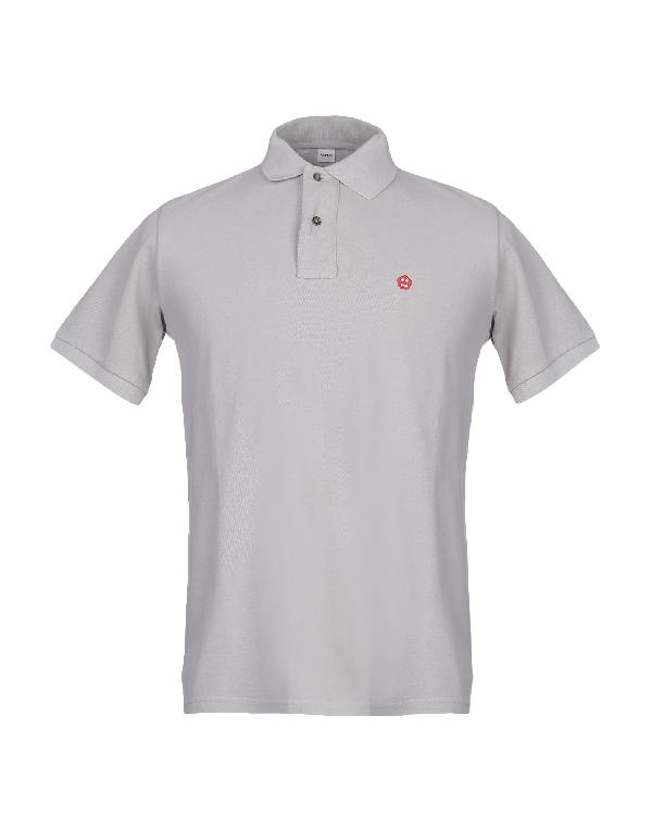 Aspesi Jersey Polo In Light Grey
