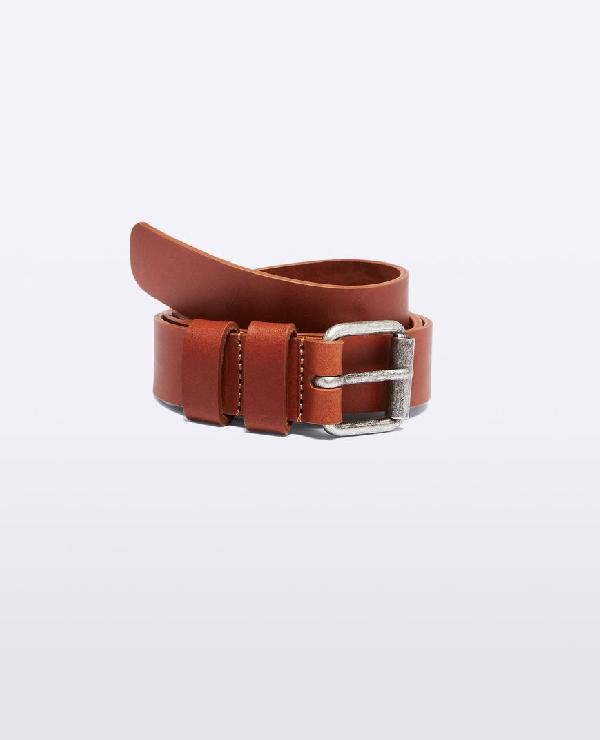 Aspesi Leather Belt In Tan