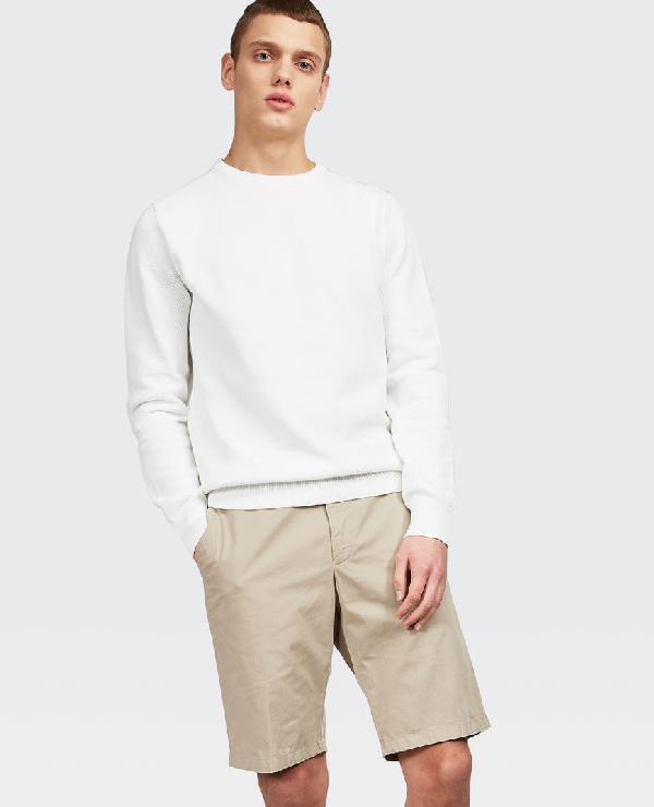 Aspesi Pure Cotton Knitwear In Optical White