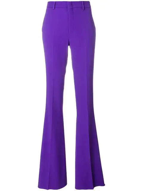 Gucci Stretch Viscose Skinny Flare Trousers In Purple