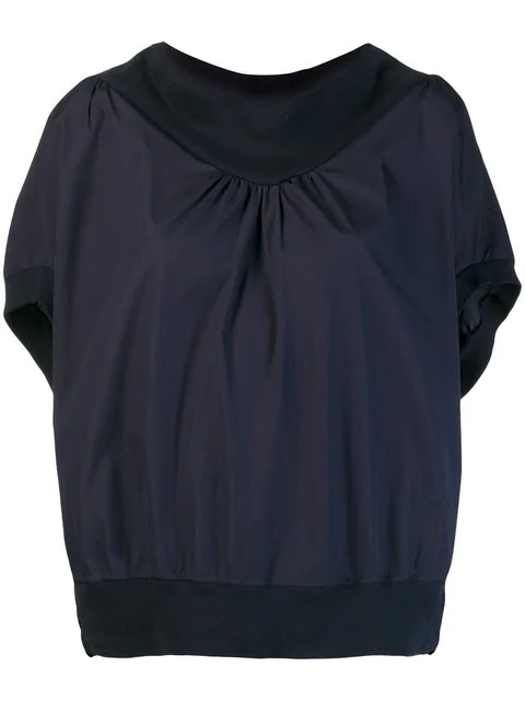 Tsumori Chisato Blouse With Structured Collar In Blue