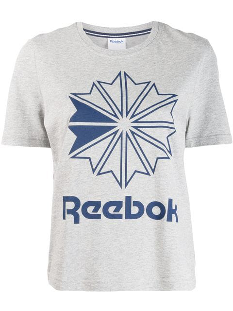 Reebok Logo Print T-shirt - Grey