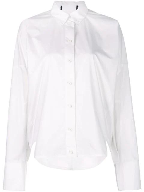 Proenza Schouler Cotton Poplin Cocoon Top In White