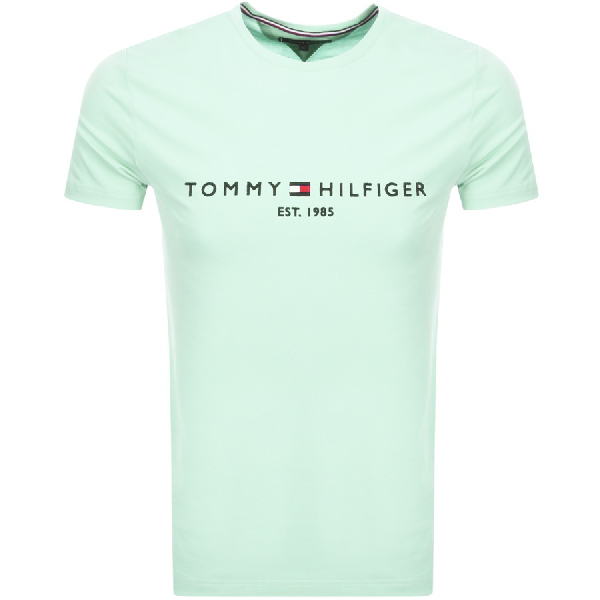 Tommy Hilfiger Logo T Shirt Green
