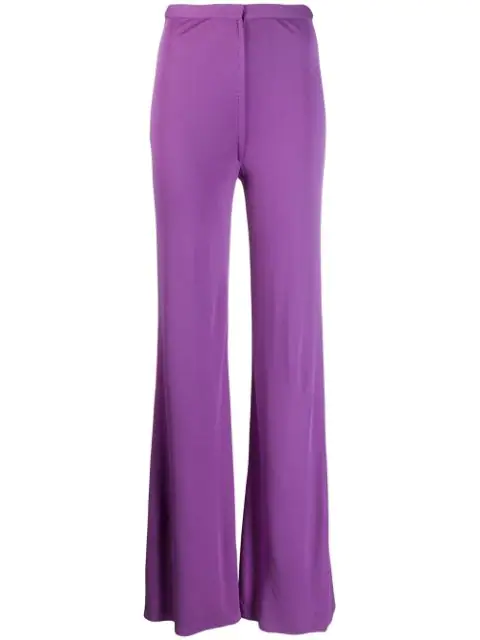 Pre-owned A.n.g.e.l.o. Vintage Cult 1970's Flared Trousers In Purple