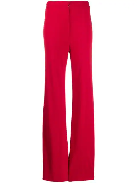 Pre-owned A.n.g.e.l.o. Vintage Cult 1970's Flared Trousers In Red