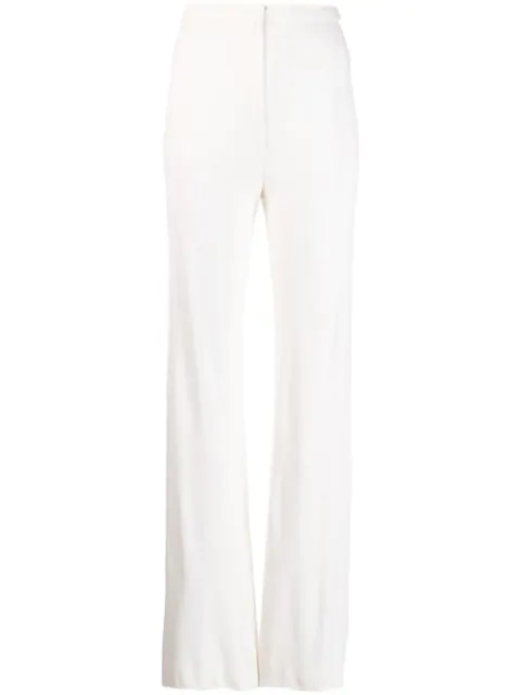 Pre-owned A.n.g.e.l.o. Vintage Cult 1970's Flared Trousers In White