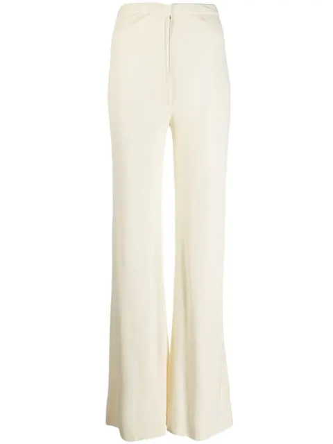 Pre-owned A.n.g.e.l.o. Vintage Cult 1970's Flared Trousers In Neutrals