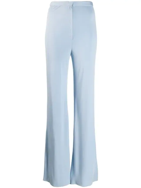 Pre-owned A.n.g.e.l.o. Vintage Cult 1970's Flared Trousers In Blue