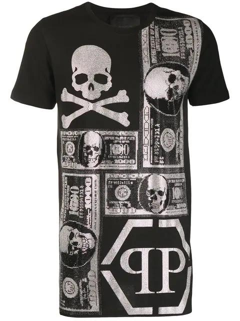 Philipp Plein Printed T-shirt In Black