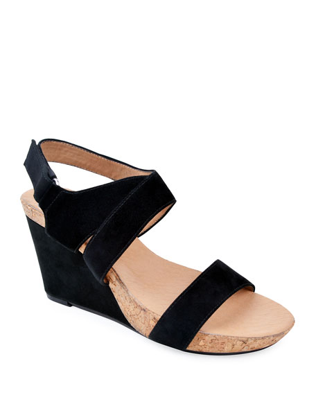6f2200474ae Concepts Trent Slingback Wedge in Black Suede