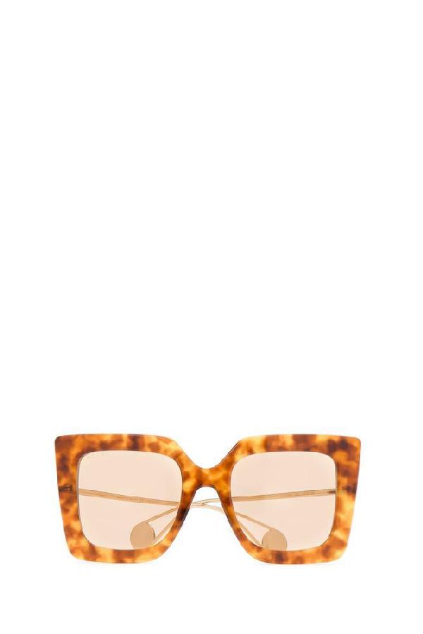 Gucci Eyewear Rectangular Sunglasses In Multi