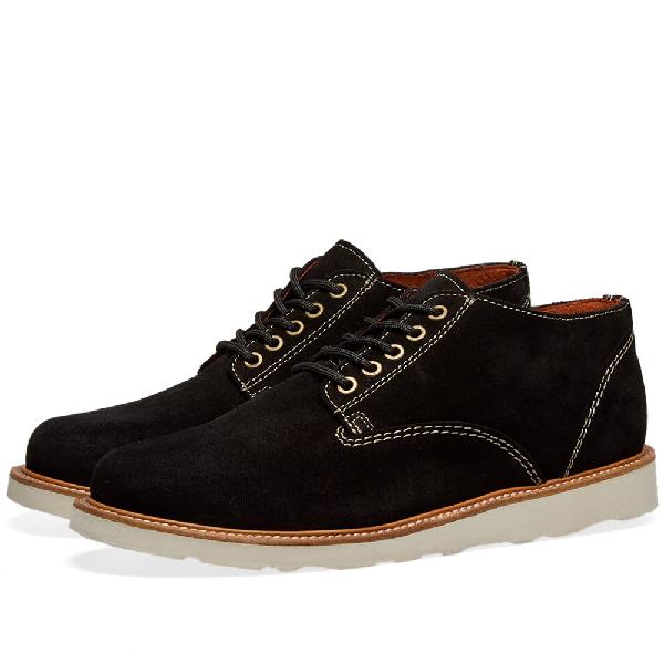 Wild Bunch Vibram Sole Classic 5 Eyelet Shoe In Black