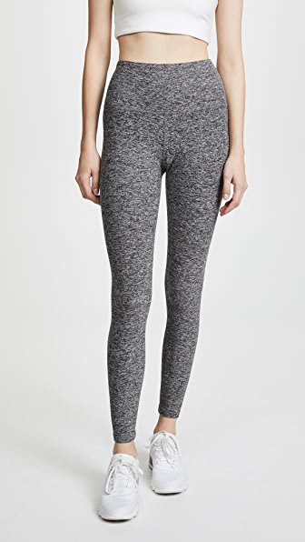 Beyond Yoga High Waisted Midi Leggings In Black/white