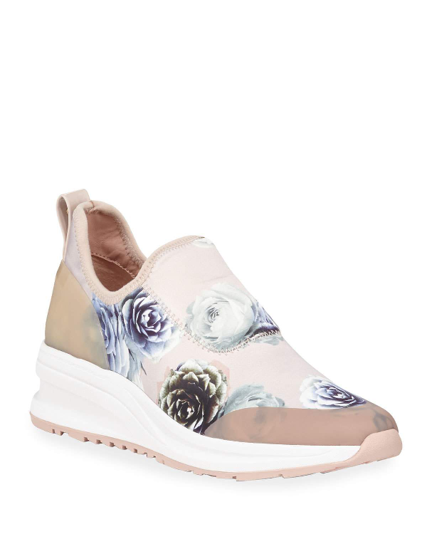 09474d6ea18 Taryn Rose Zabella Rose Satin Slip-On Sneakers In Pink Rose