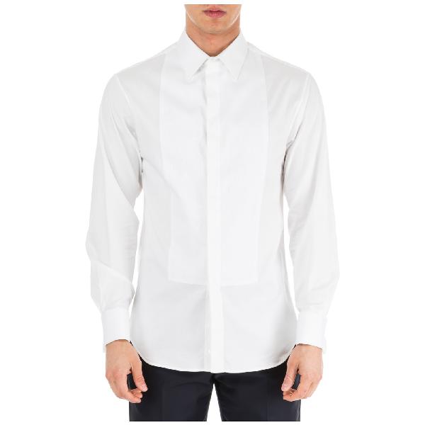 Emporio Armani Men's Long Sleeve Shirt Dress Shirt In White