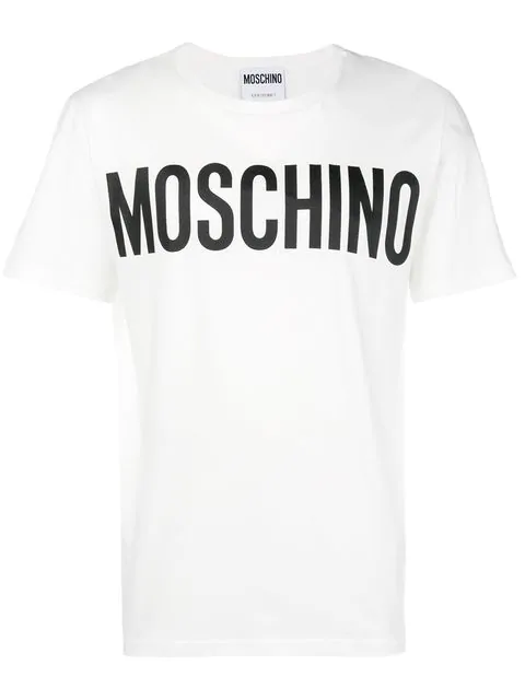 Moschino Men's Short Sleeve T-Shirt Crew Neckline Jumper In White