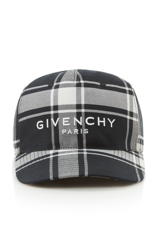 Givenchy Logo-Embroidered Checked Shell Baseball Cap In Plaid