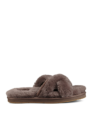 895f00cf1 Ugg Women's Abela Open Toe Sheepskin Slide Sandals In Slate | ModeSens