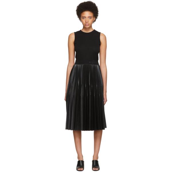 Givenchy Sleeveless Pleated Midi Dress In 001 Black