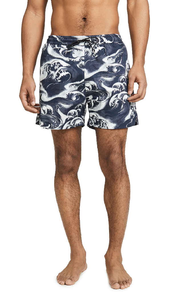 Mcq By Alexander Mcqueen Mcq Alexander Mcqueen Navy And White Holiday Shorts In 1000 Drk Bk