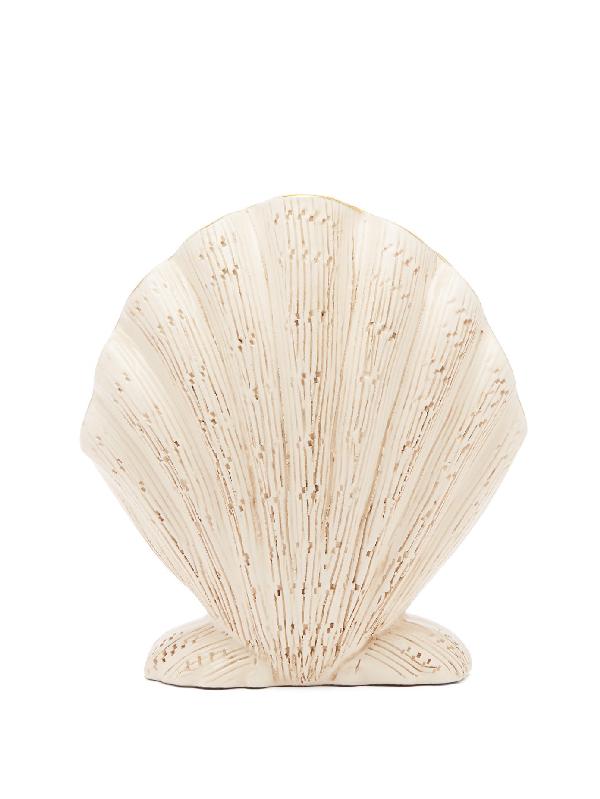 Aerin Amelie Ceramic Shell Vase In White