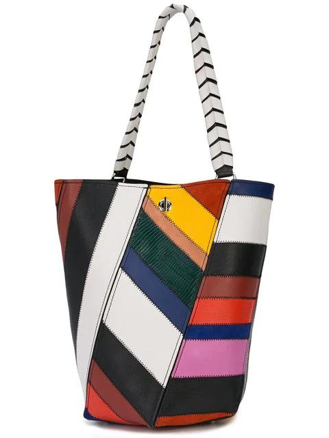 Proenza Schouler Medium Patchwork Hex Bucket Bag In Multicolour