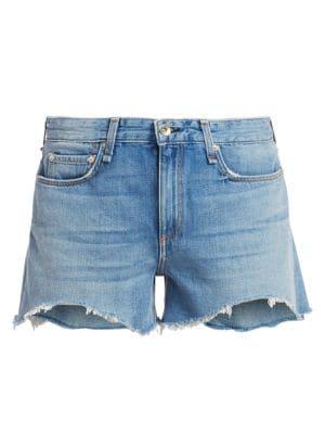 Rag & Bone Dre Cutoff Denim Shorts In Clean Bishop