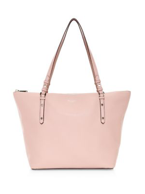 Kate Spade Polly Leather Tote In Pink