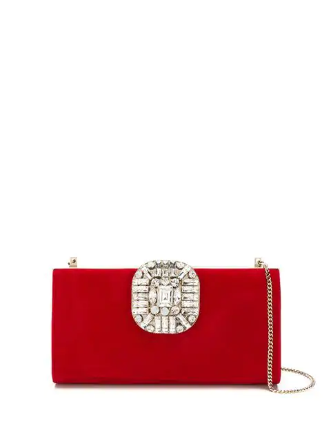 Jimmy Choo Leonis Clutch Bag In 红色