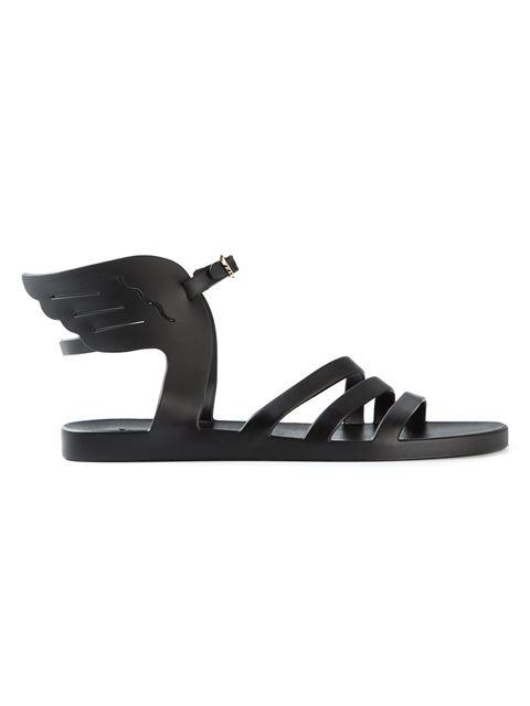 Ancient Greek Sandals Ikaria Jelly Wing Sandals, Black