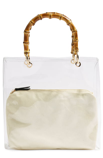 Mercy Top Handle Tote Bag None In Clear