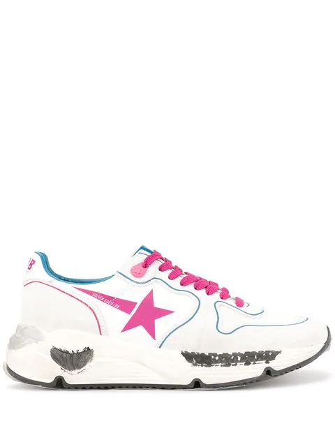 Golden Goose Running Sole Sneakers In White