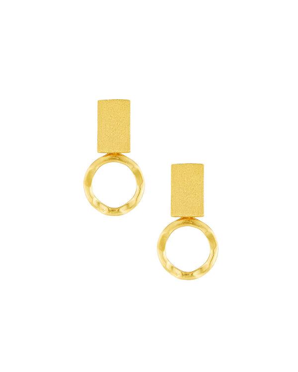 Stephanie Kantis Loop Earrings In Gold