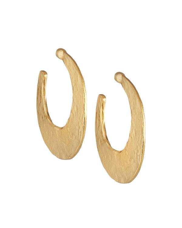Stephanie Kantis Crescent Hoop Earrings In Gold