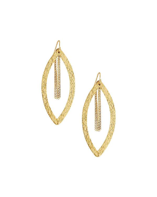 Stephanie Kantis Paris Single Eye Chain Earrings In Gold