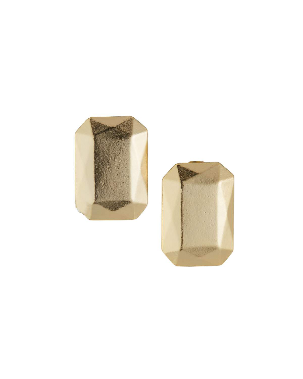 Stephanie Kantis Rockaby Rectangle Earrings In Gold