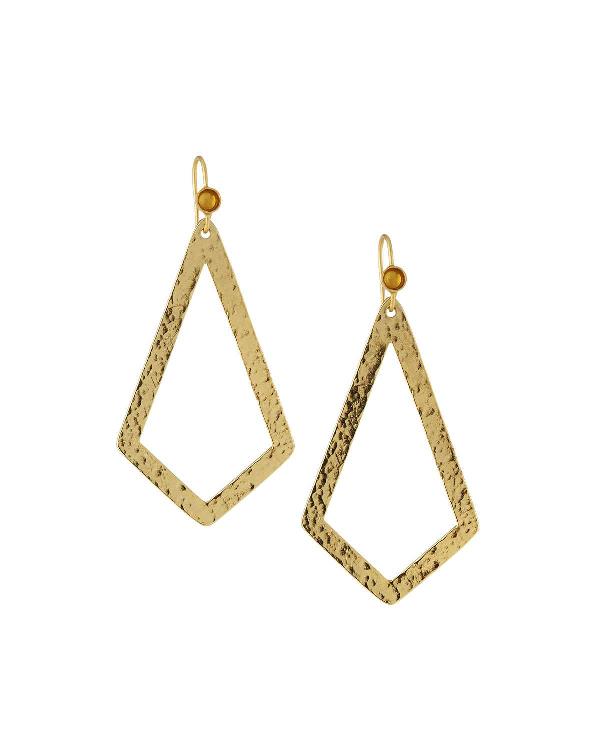 Stephanie Kantis Paris Triangle Drop Earrings In Gold