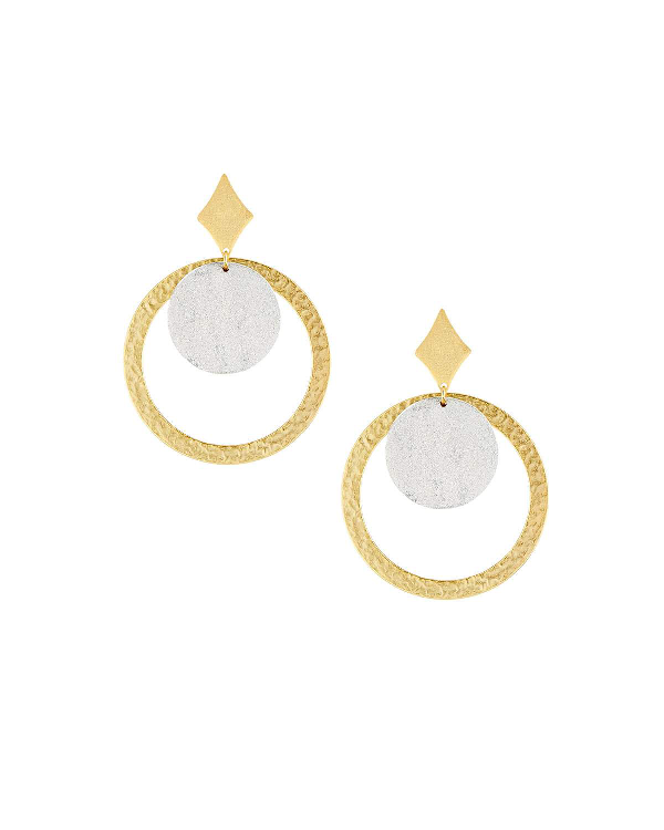 Stephanie Kantis Tri Hoop-drop Earrings