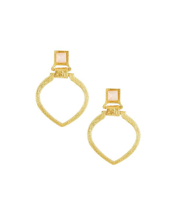 Stephanie Kantis Tier Door-knocker Earrings In Rose