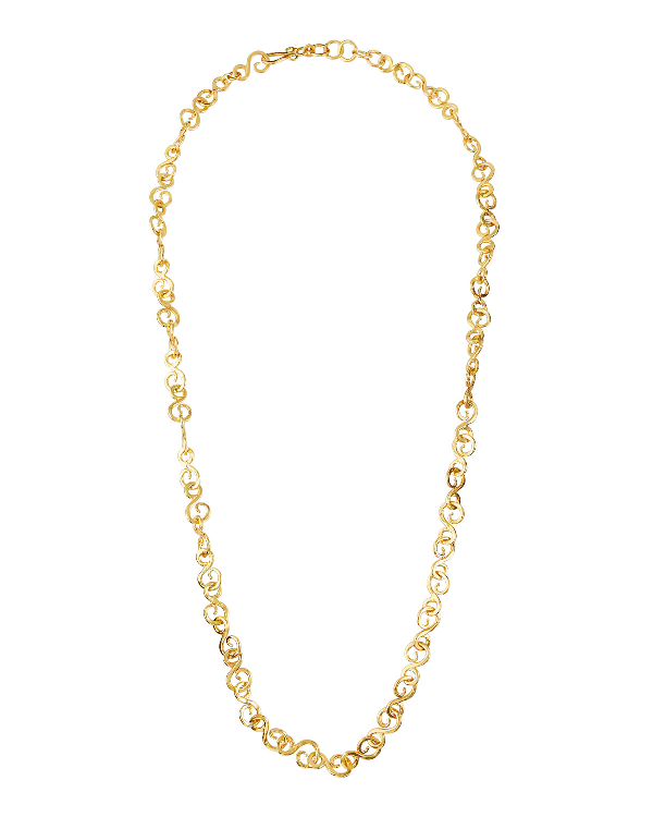 "Stephanie Kantis Signature S-hook Chain Necklace, 42""l In Gold"