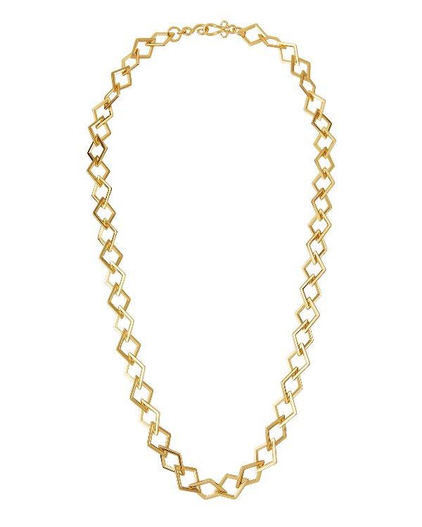 "Stephanie Kantis Element Square-link Chain Necklace, 42"" In Gold"