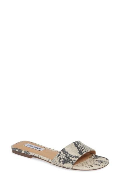 83dce2b559 Steve Madden Bev Slide Sandal In Natural Snake Print | ModeSens