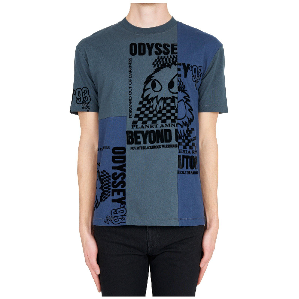 4f17a0ed Mcq By Alexander Mcqueen Mcq Alexander Mcqueen Printed T In Blue. CETTIRE